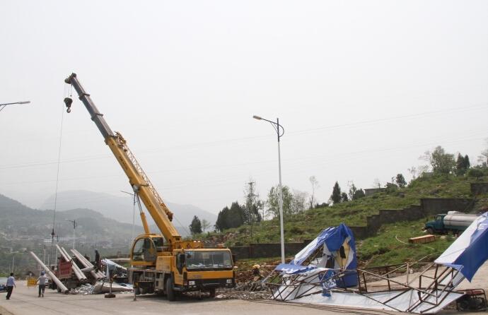 温州吊车移植电线杆